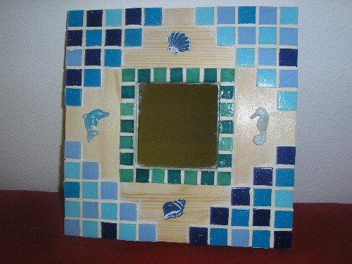 Les cr ations de cindy miroirs en mosa que for Mosaique miroir